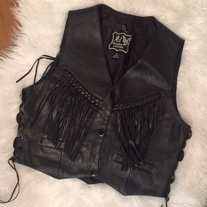 Genuine Leather Western Vest